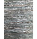Rocaflor Vloerkleed gerecycled leer geweven Salie/Goud 200X300 cm