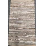 Rocaflor Vloerkleed gerecycled leer geweven Beige/Goud 160x230cm
