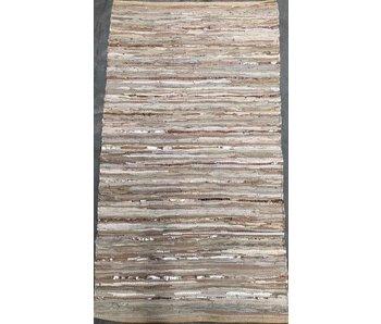 Rocaflor Vloerkleed gerecycled leer geweven Beige/Goud 80x140cm