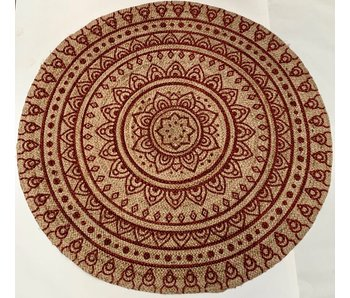 Rocaflor Vloerkleed jute geweven henna rond 150 cm