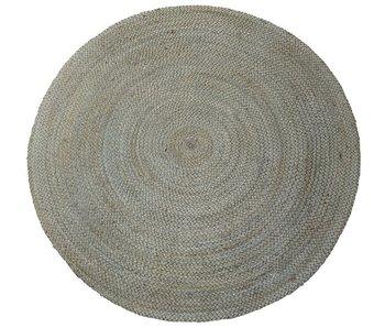 Rocaflor Vloerkleed Jute geweven rond 120cm Pale Aqua
