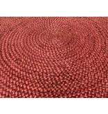 Rocaflor Vloerkleed Jute geweven rond 120cm Marsala