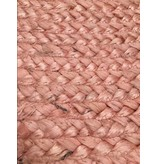 Rocaflor Vloerkleed jute poederroze ø120cm