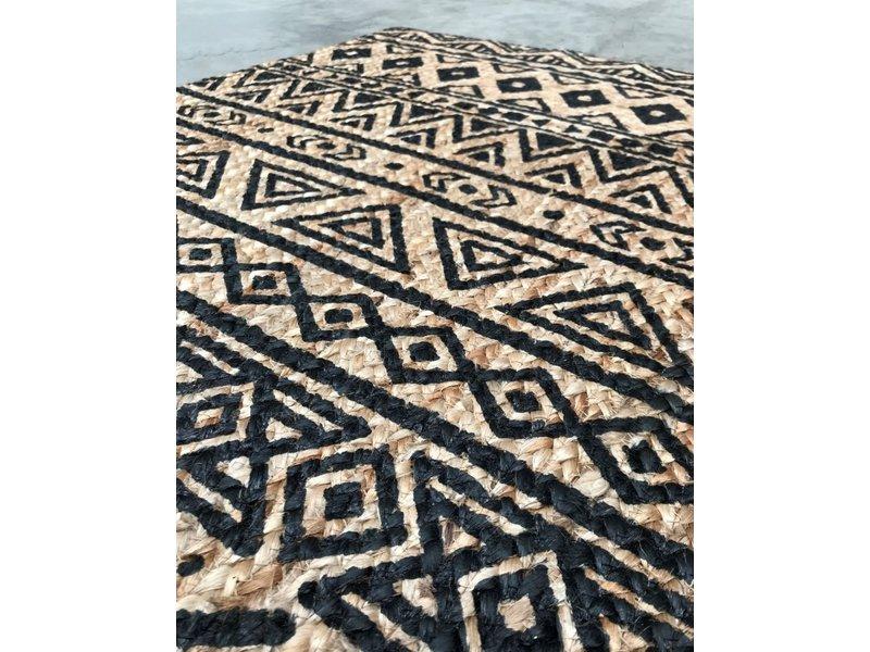 Rocaflor Vloerkleed jute & Grafische print 80x140cm