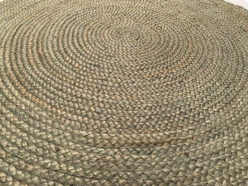 Rocaflor Vloerkleed jute saliegroen ø150cm