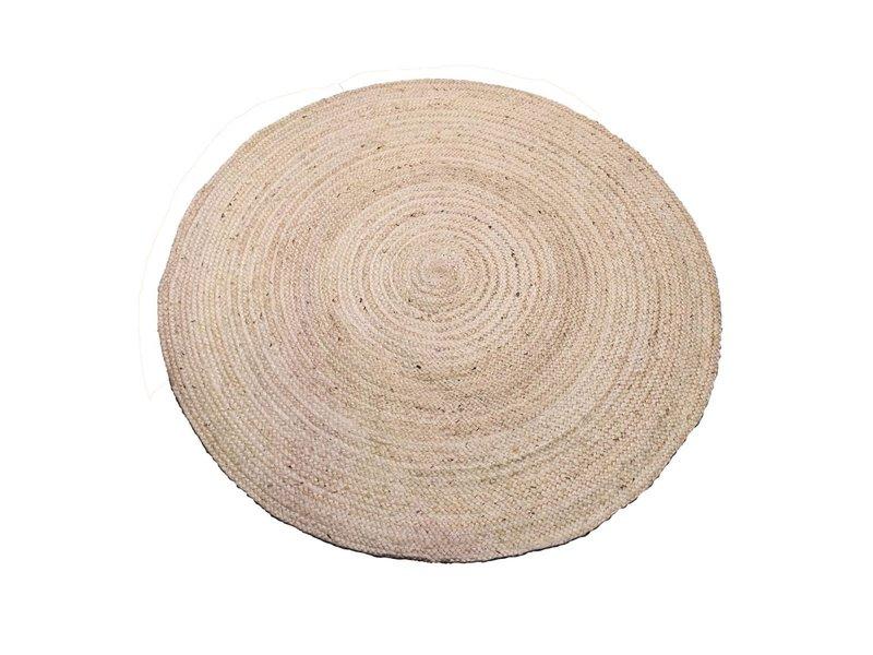 Rocaflor Vloerkleed ivoorwit ecru jute ø150cm