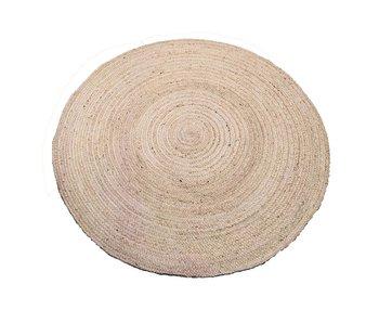 Rocaflor Vloerkleed ivoorwit ecru jute ø120cm