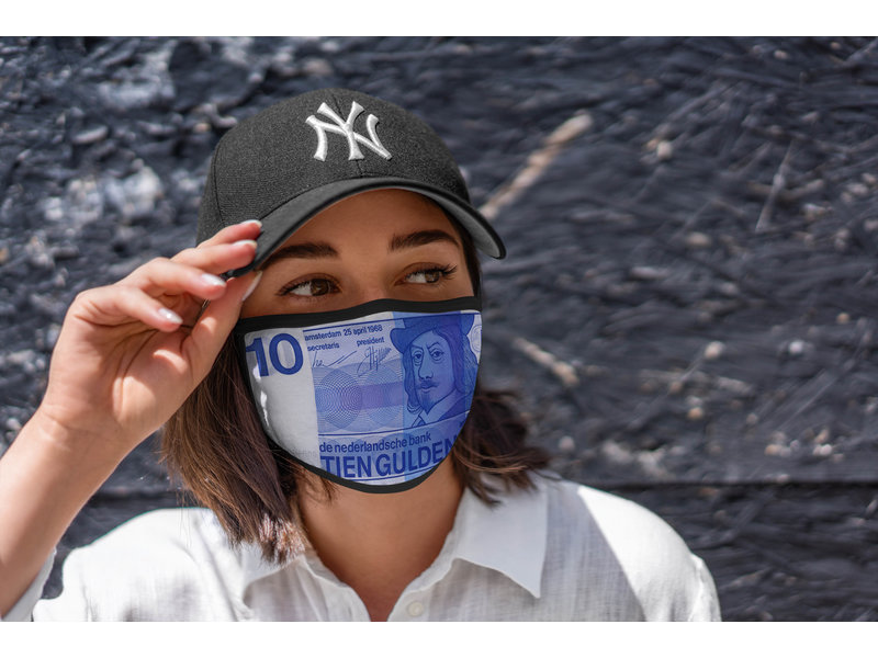 Mondmasker 10 gulden biljet