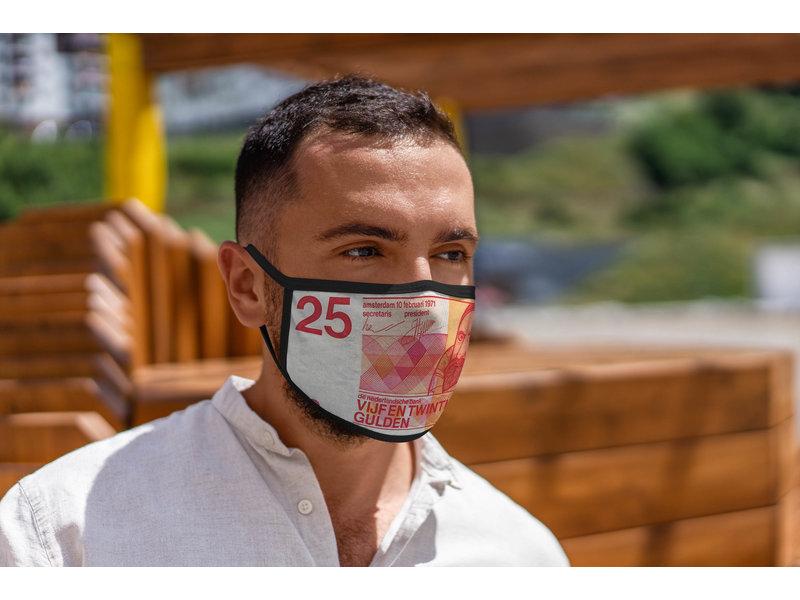 Mondmasker 25 gulden biljet
