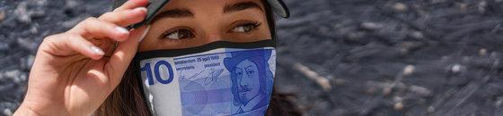 Gulden biljet mondmasker