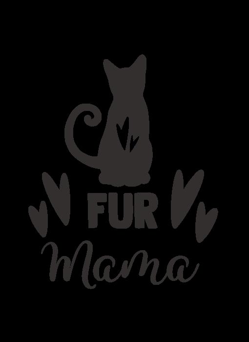 Versierendoejezo Muursticker fur mama zwart