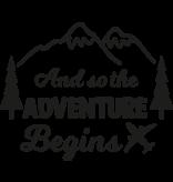 Versierendoejezo Muursticker and so the adventure begins in de kleur zwart