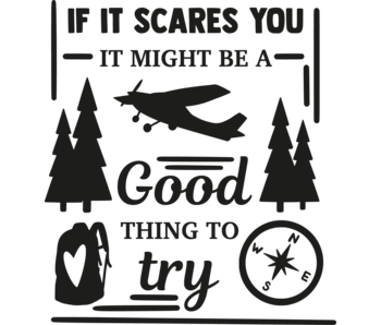 Versierendoejezo Muursticker if it scares you it might be a good thing to try in de kleur zwart