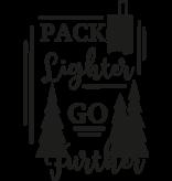 Versierendoejezo Muursticker pack lighter go further in de kleur zwart