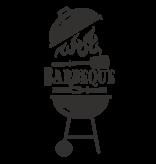 Versierendoejezo Muursticker barbeque in de kleur zwart