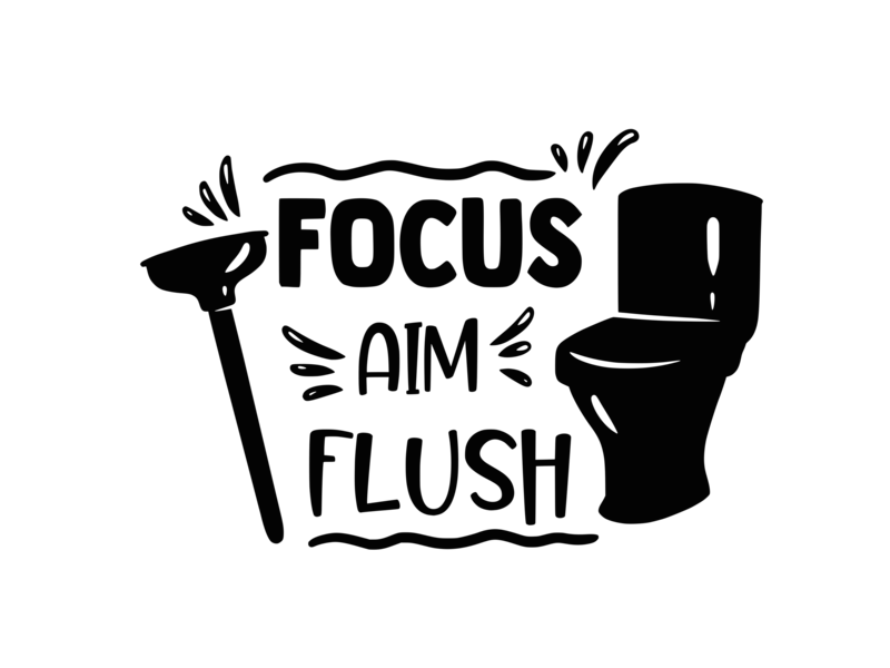 Versierendoejezo Muursticker focus aim flush in de kleur zwart