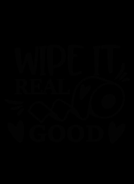 Versierendoejezo Muursticker wipe it real good in de kleur zwart
