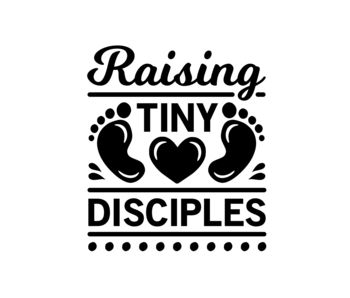 Versierendoejezo Muursticker raising tiny disciples in de kleur zwart