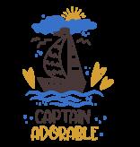 Romper captain adorable - Baby romper met tekst - korte mouw rompertje - maat 74-80 - kraamcadeau  zwangerschapscadeau babyshower baby kleding leuke tekst - rompertjes baby