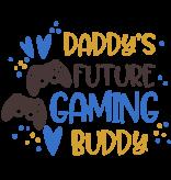 Romper daddys future gaming buddy - Baby romper met tekst - korte mouw rompertje - maat 74-80 - kraamcadeau  zwangerschapscadeau babyshower baby kleding leuke tekst - rompertjes baby