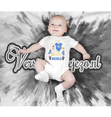 Romper hello world - Baby romper met tekst - korte mouw rompertje - maat 74-80 - kraamcadeau  zwangerschapscadeau babyshower baby kleding leuke tekst - rompertjes baby