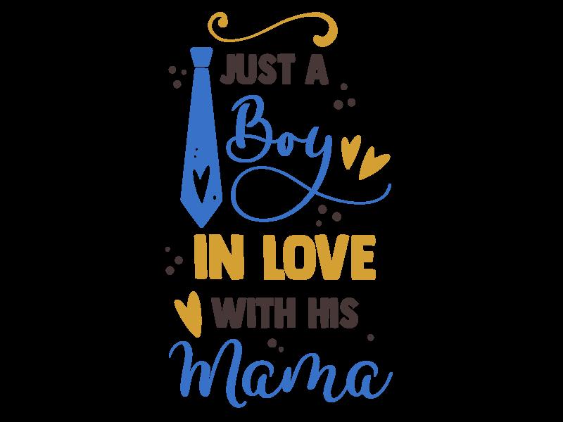 Romper just a boy in love with his mama - Baby romper met tekst - korte mouw rompertje - maat 74-80 - kraamcadeau  zwangerschapscadeau babyshower baby kleding leuke tekst - rompertjes baby