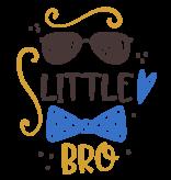 Romper little bro - Baby romper met tekst - korte mouw rompertje - maat 74-80 - kraamcadeau  zwangerschapscadeau babyshower baby kleding leuke tekst - rompertjes baby