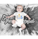 Romper new to the crew - Baby romper met tekst - korte mouw rompertje - maat 74-80 - kraamcadeau  zwangerschapscadeau babyshower baby kleding leuke tekst - rompertjes baby