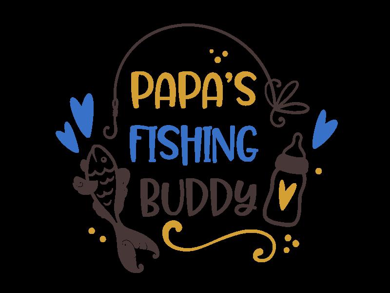 Romper papas fishing buddy - Baby romper met tekst - korte mouw rompertje - maat 74-80 - kraamcadeau  zwangerschapscadeau babyshower baby kleding leuke tekst - rompertjes baby