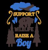Romper support wildlife raise a boy - Baby romper met tekst - korte mouw rompertje - maat 74-80 - kraamcadeau  zwangerschapscadeau babyshower baby kleding leuke tekst - rompertjes baby