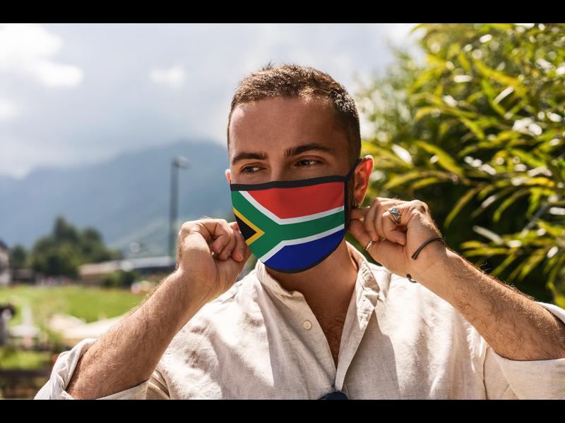 Mondmasker Vlag Zuid Afrika