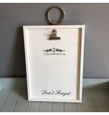 Countryfield Clipboard don't forget