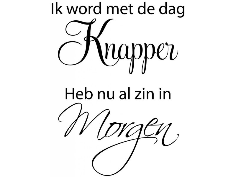 Muurtekst Knapper