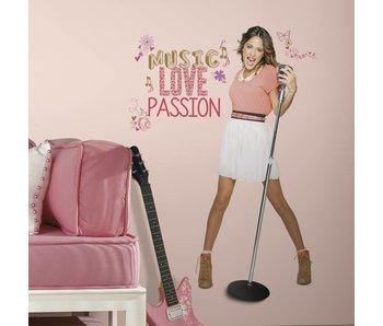 Walt Disney Violetta groot staand Sticker Music, Love & Passion