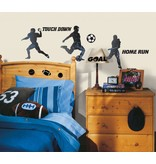 Football, voetbal en honkbal muursticker