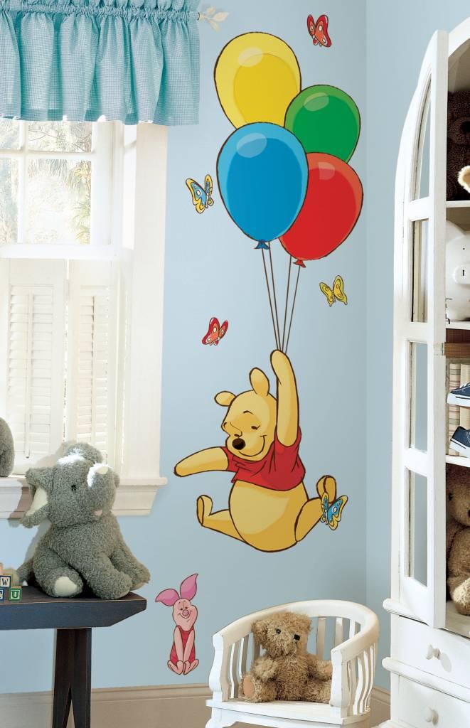 Muursticker Winnie The Pooh.Disney Winnie De Pooh Ballon Muursticker Versierendoejezo