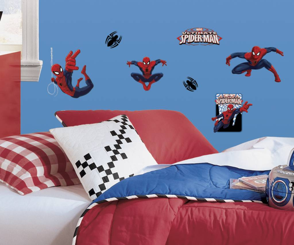 Muurstickers Kinderkamer Spiderman.Marvel Ultimate Spiderman Kleine Muurstickers Versierendoejezo