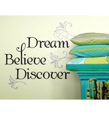 Roommates Dream Believe Discover tekststicker