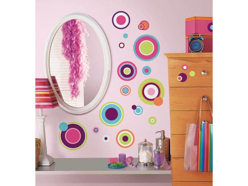 Crazy Dots gekleurde stippen muurstickers