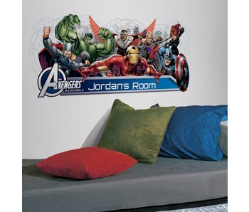 Marvel Avengers groep muursticker met letters