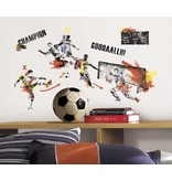 Roommates Flitsende voetbal muursticker