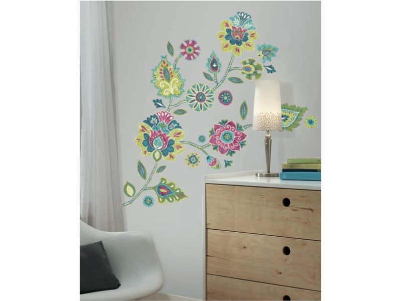 "Hippe bloemen ""flower power"" muursticker"