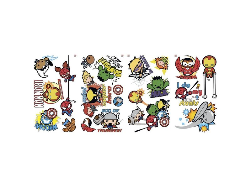 Marvel Super Hero Squad muursticker Kawaii Art
