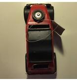 Clayre & Eef Metalen eend rood zwart 2cv klein