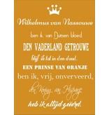 Muursticker Wilhelmus