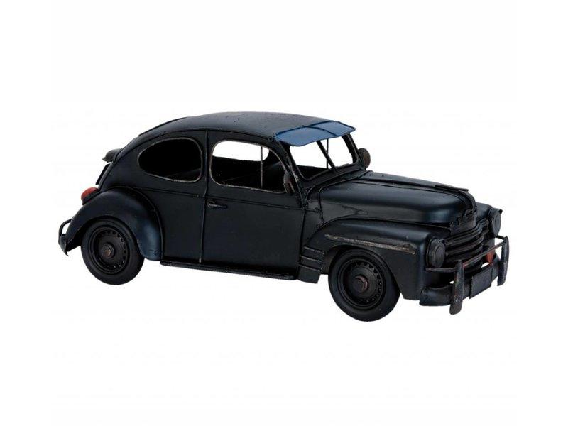 Clayre & Eef Metalen zwarte modelauto
