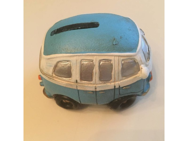 Clayre & Eef Spaarpot blauwe VW T1 surfbus klein