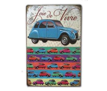 Clayre & Eef 2CV Eend vintage bord