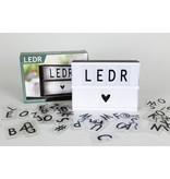 Cottonballslight Licht letterbox klein Ledr