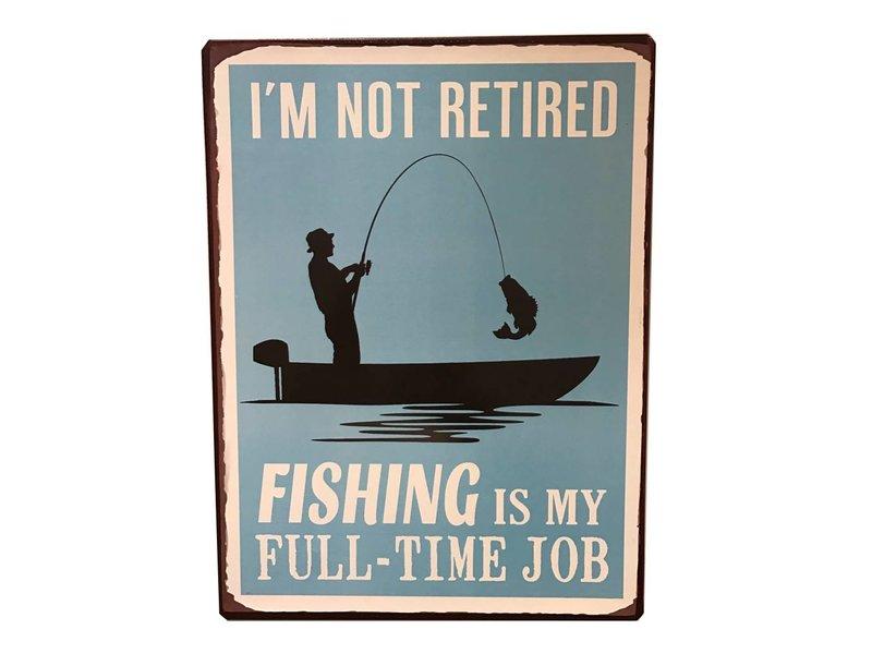 Bord Retired visser 35cm x 26cm